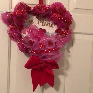 Valentine Message Heart Wreath